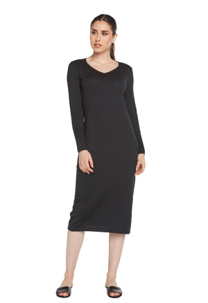 black cashmere cotton blend loungewear dress