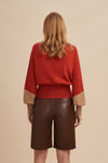 DILLION High-Waist Color Block Sweater