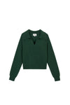 sweater with collar, collar sweater, collared sweater, knit polo shirt, polo shirt sweater, green sweater, green sweater outfit, green sweater women, green cashmere sweater