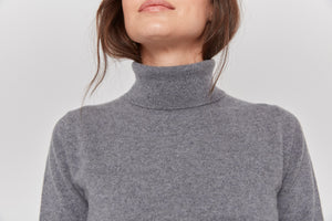 women grey neutral cashmere sweater top knitwear layer