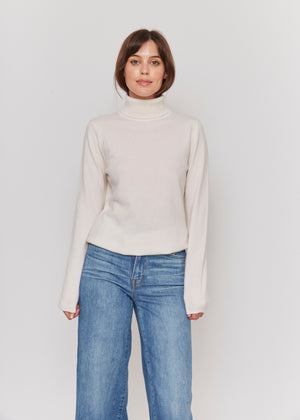 women white neutral cashmere sweater top knitwear layer
