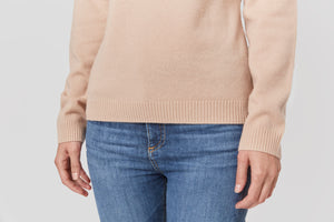 women pink neutral turtleneck cashmere sweater top knitwear layer