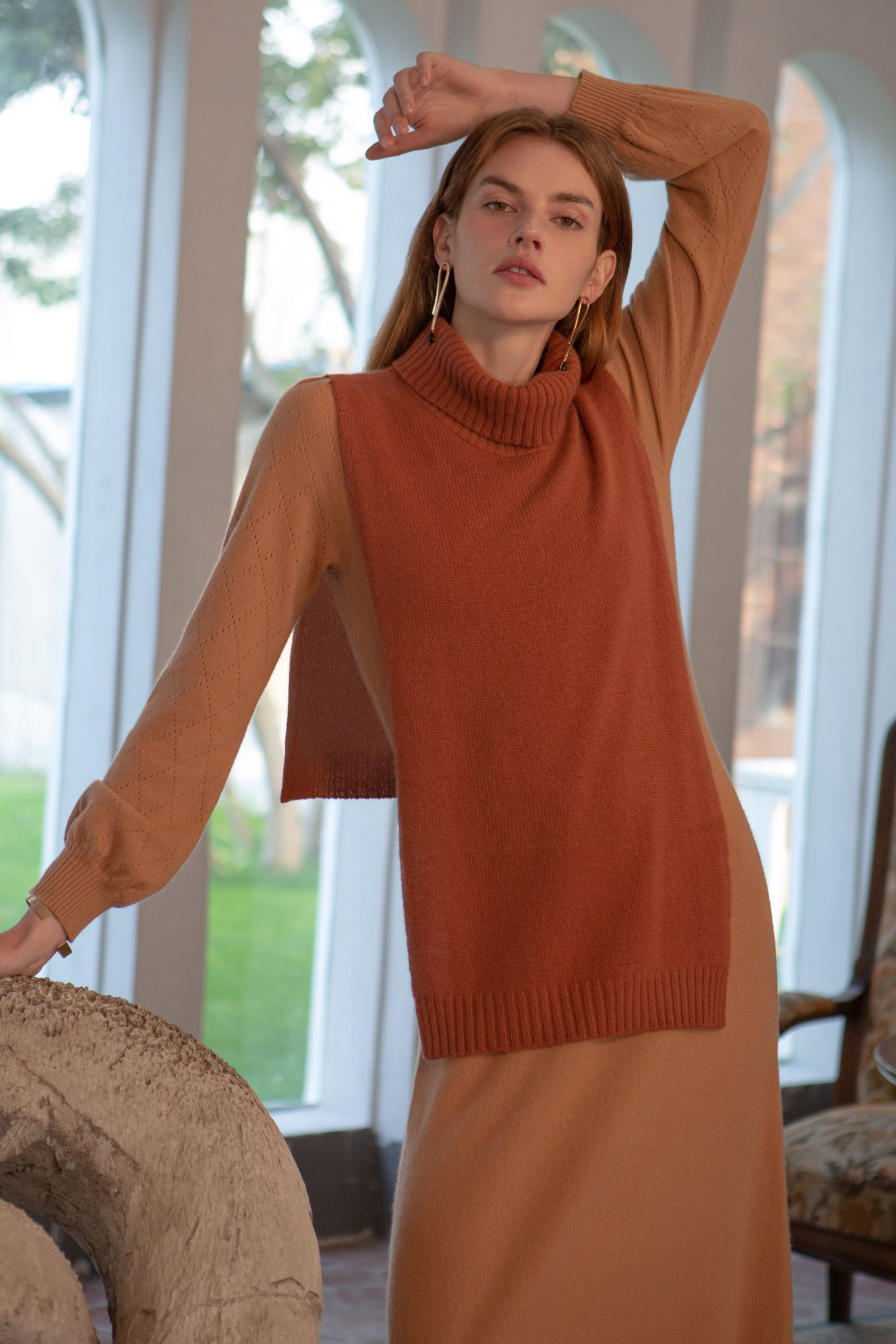 decky, cashmere turtleneck sweater, turtleneck sweater, cashmere sweater