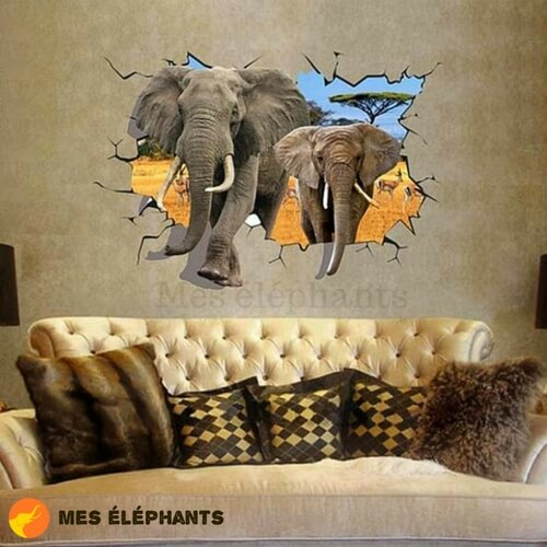 Stickers 3D elephant