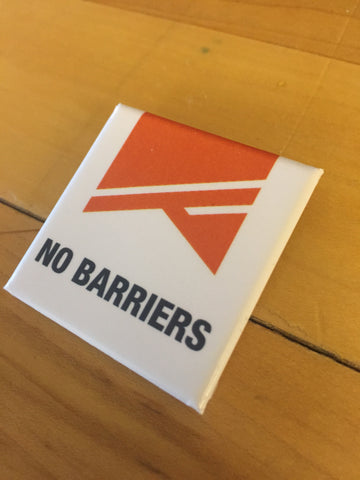 No Barriers Button - No Barriers Flag Gear -