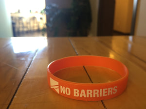 Silicone Wrist Band - No Barriers Flag Gear -