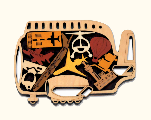 Constantin Wooden Puzzle - No Barriers Games - The Airport