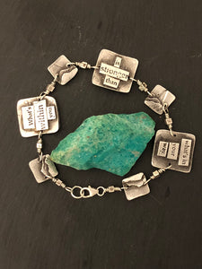 """What's Within You…"" Silver Reversible 7-Link Bracelet - No Barriers Jewelry -"