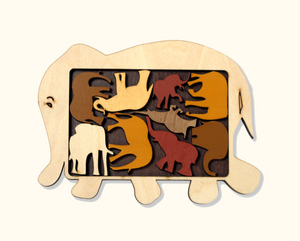 Constantin Wooden Puzzle - No Barriers Games - Elephant Parade