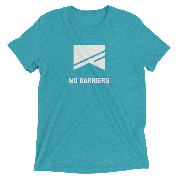 Short Sleeve T-Shirt - 13 Colors! - No Barriers Apparel - Teal Triblend / XS