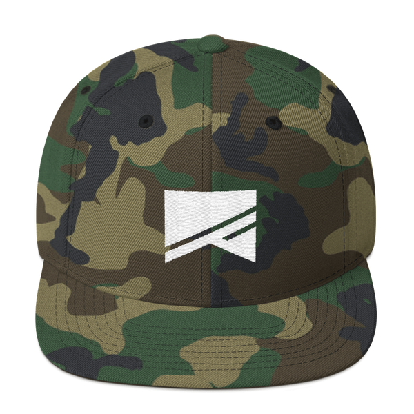 Snapback Hat - 19 Colors! - No Barriers Hats - Green Camo