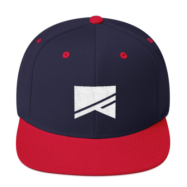 Snapback Hat - 19 Colors! - No Barriers Hats - Navy/ Red