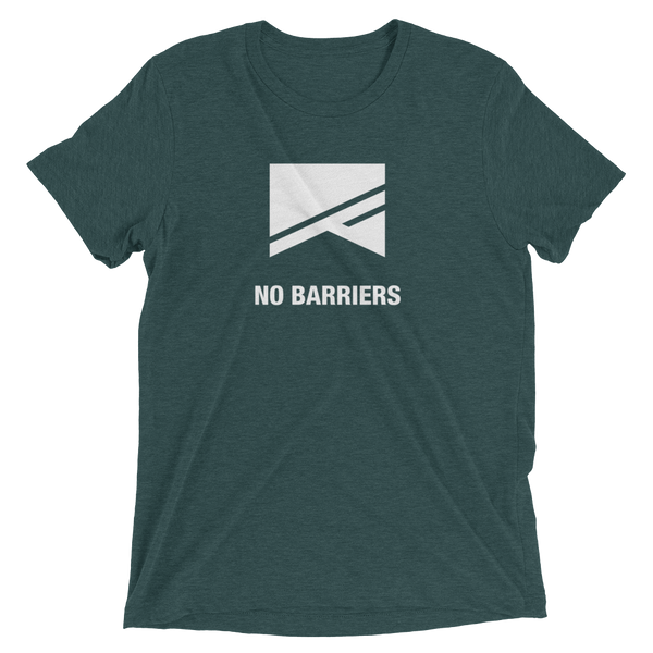 Short Sleeve T-Shirt - 13 Colors! - No Barriers Apparel - Emerald Triblend / XS