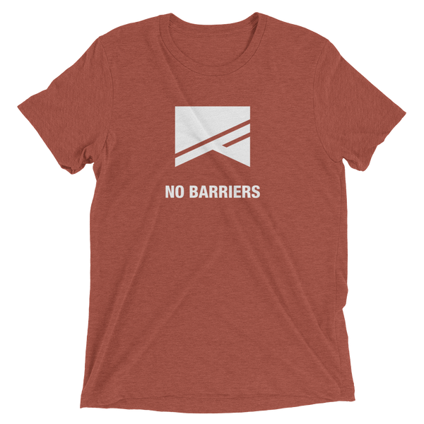 Short Sleeve T-Shirt - 13 Colors! - No Barriers Apparel - Clay Triblend / XS