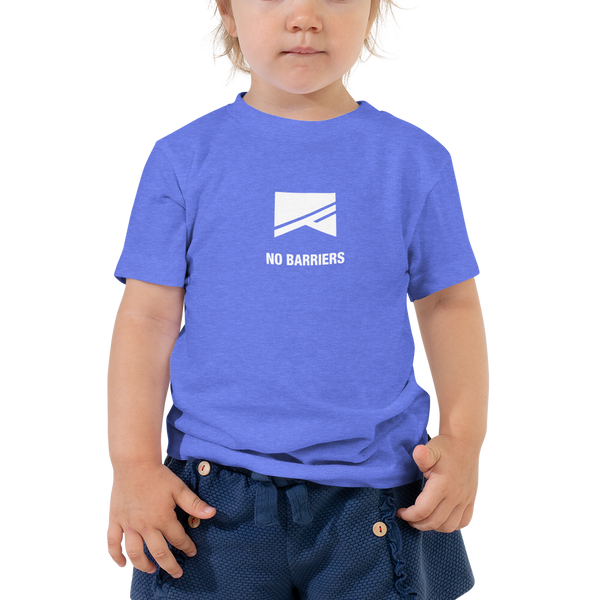 Toddler Short Sleeve T-Shirt - No Barriers Apparel - Heather Columbia Blue / 2T