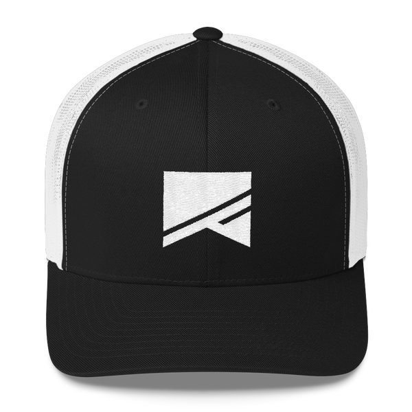 Trucker Cap - 5 Colors! - No Barriers Hats - Black/ White