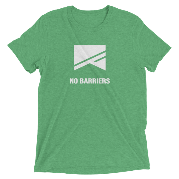Short Sleeve T-Shirt - 13 Colors! - No Barriers Apparel - Green Triblend / XS