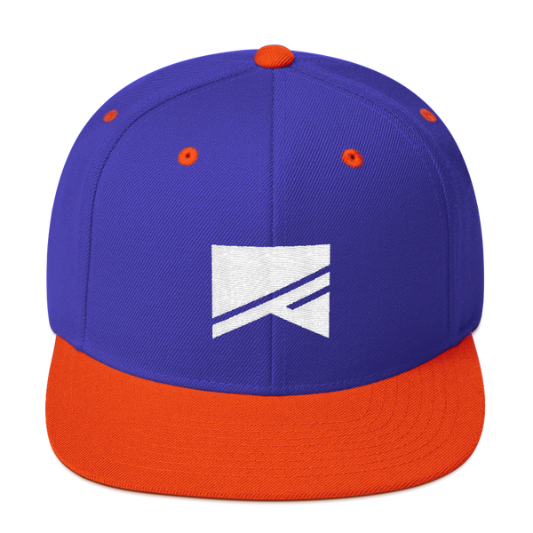 Snapback Hat - 19 Colors! - No Barriers Hats - Royal/ Orange