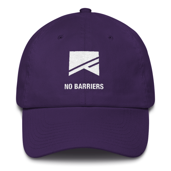Cotton Ballcap - 10 Colors! - No Barriers Hats - Purple