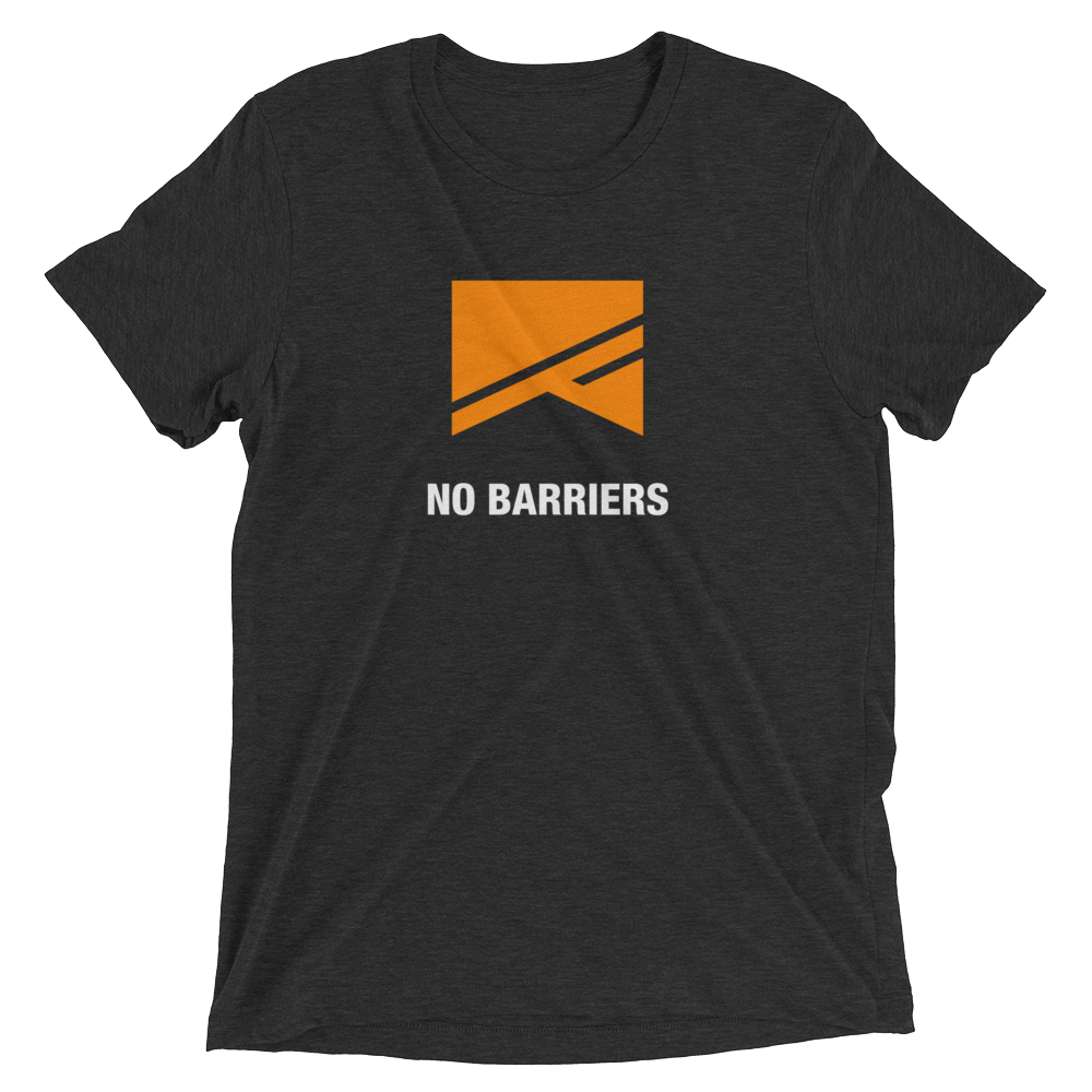Short Sleeve T-Shirt - 5 Colors! - No Barriers Apparel - Charcoal-Black Triblend / XS
