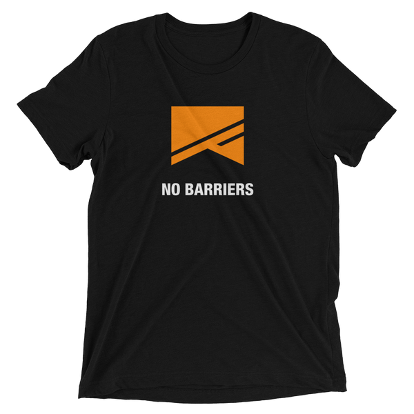 Short Sleeve T-Shirt - 5 Colors! - No Barriers Apparel - Solid Black Triblend / XS