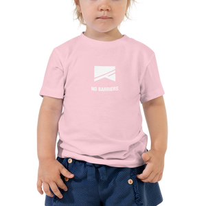 Toddler Short Sleeve T-Shirt - No Barriers Apparel - Pink / 2T