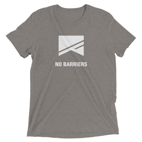 Short Sleeve T-Shirt - 13 Colors! - No Barriers Apparel - Grey Triblend / XS