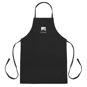 Embroidered Apron - No Barriers Home - Black