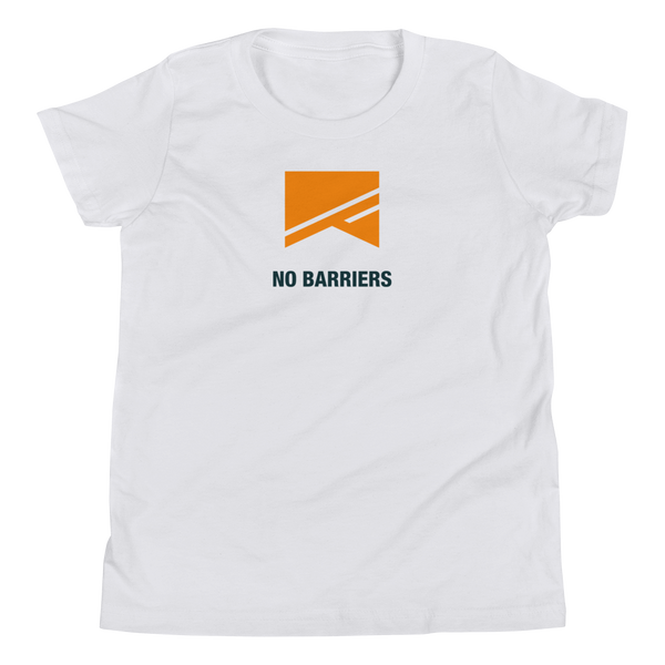 Youth Short Sleeve T-Shirt - No Barriers Apparel - White / S
