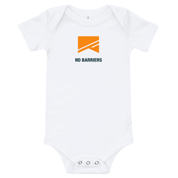 Baby Onesie - No Barriers Apparel - White / 3-6m