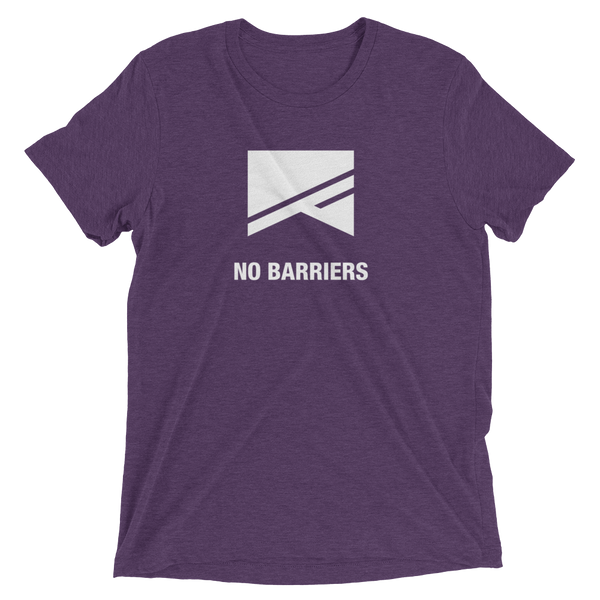 Short Sleeve T-Shirt - 13 Colors! - No Barriers Apparel - Purple Triblend / XS