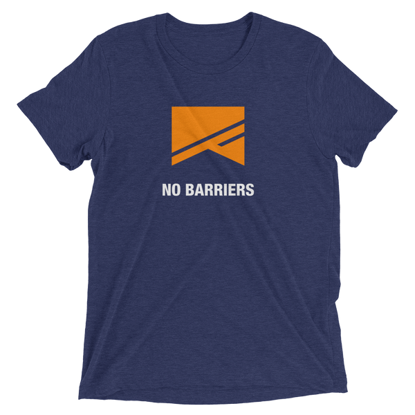 Short Sleeve T-Shirt - 5 Colors! - No Barriers Apparel - Navy Triblend / XS