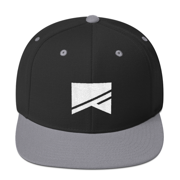 Snapback Hat - 19 Colors! - No Barriers Hats - Black/ Silver
