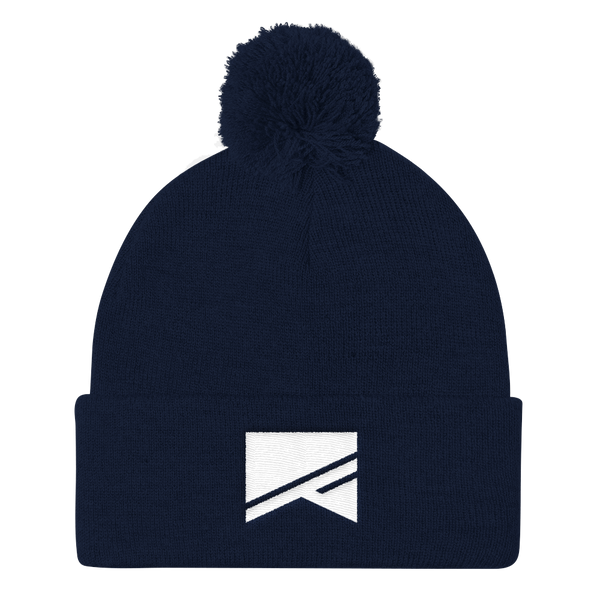 Pom Pom Knit Cap - 7 Colors! - No Barriers Hats - Navy