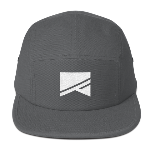 5 Panel Camper Cap - 3 Colors! - No Barriers Hats - Charcoal gray