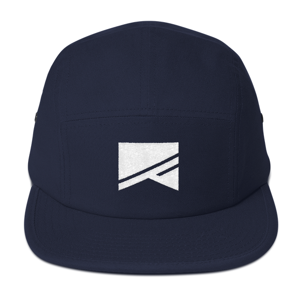 5 Panel Camper Cap - 3 Colors! - No Barriers Hats - Navy blue