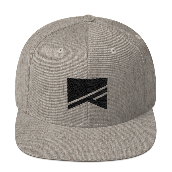Snapback Hat - 19 Colors! - No Barriers Hats - Heather Grey