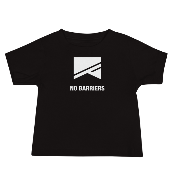 Baby Short Sleeve T-Shirt - No Barriers Apparel - Black / 6-12m
