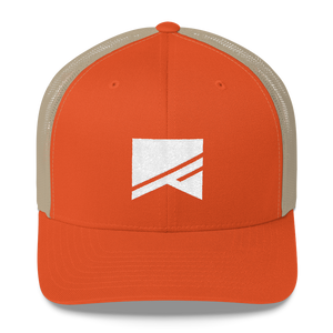 Trucker Cap - 5 Colors! - No Barriers Hats - Rustic Orange/ Khaki