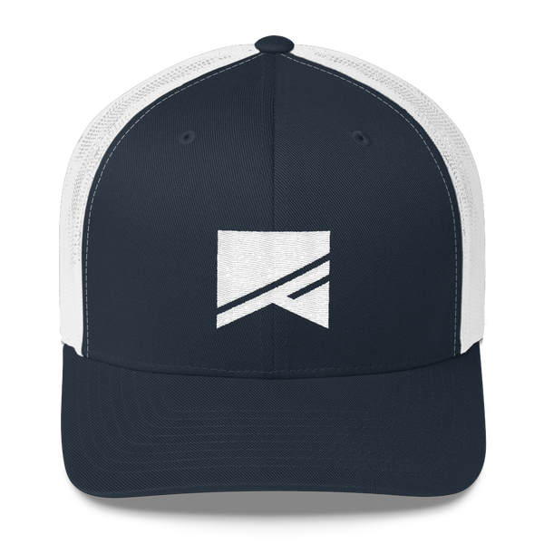 Trucker Cap - 5 Colors! - No Barriers Hats - Navy/ White
