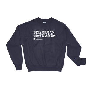 Champion Sweatshirt - No Barriers Apparel - Team Navy / S