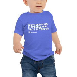 Baby Short Sleeve T-Shirt - No Barriers Apparel - Heather Columbia Blue / 6-12m