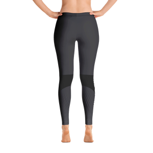Women's Leggings - Grey/Black - No Barriers Apparel - XS