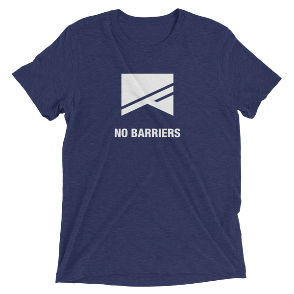 Short Sleeve T-Shirt - 13 Colors! - No Barriers Apparel - Navy Triblend / XS