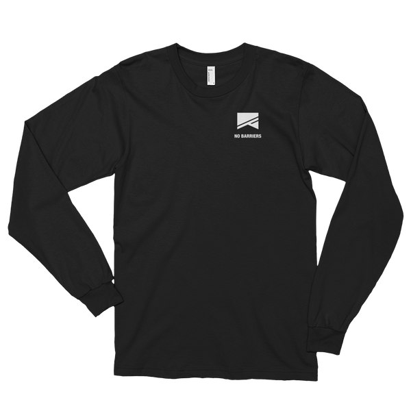 Long Sleeve T-Shirt (unisex) - No Barriers Apparel - Black / S