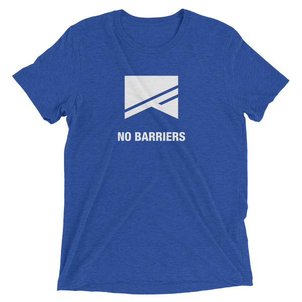 Short Sleeve T-Shirt - 13 Colors! - No Barriers Apparel - True Royal Triblend / XS
