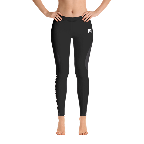 Women's Leggings - Grey/Black - No Barriers Apparel -