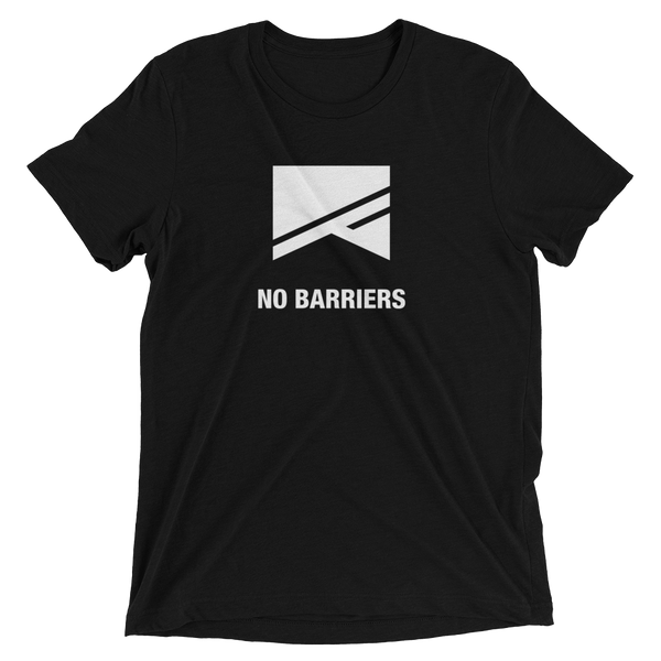 Short Sleeve T-Shirt - 13 Colors! - No Barriers Apparel - Solid Black Triblend / XS
