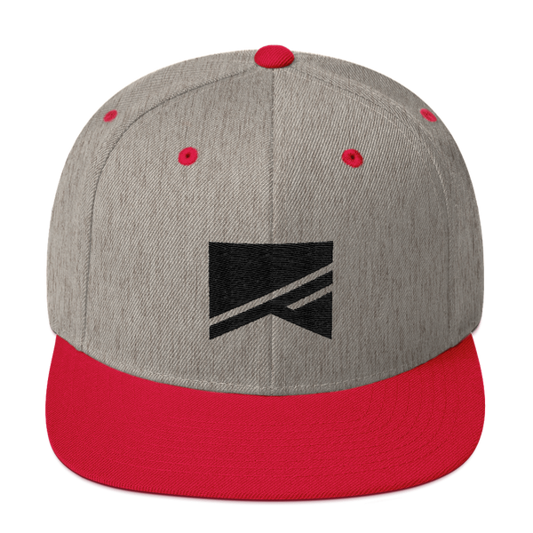 Snapback Hat - 19 Colors! - No Barriers Hats - Heather Grey/ Red