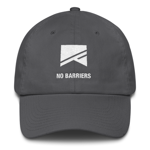 Cotton Ballcap - 10 Colors! - No Barriers Hats - Charcoal